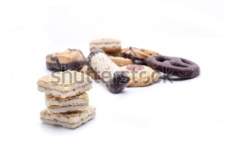 Kurabiye bisküvi mükemmel her ikisi de kahvaltı Stok fotoğraf © jarp17
