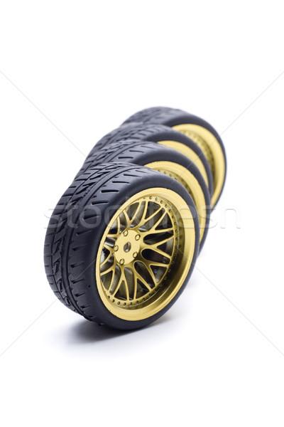 Quattro ruota oro design ruote colore Foto d'archivio © jarp17