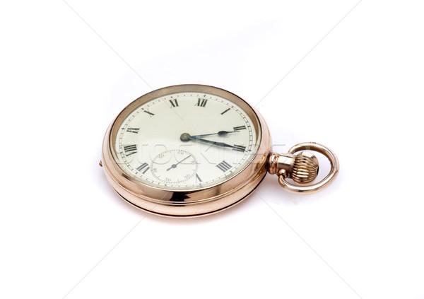 Zakhorloge antieke goud klassiek klok metaal Stockfoto © jarp17