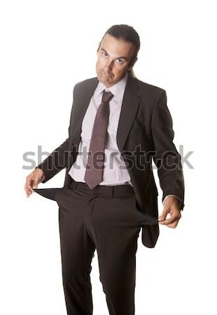 üzletember elveszett összes pénz pénzügyi szegénység Stock fotó © jarp17
