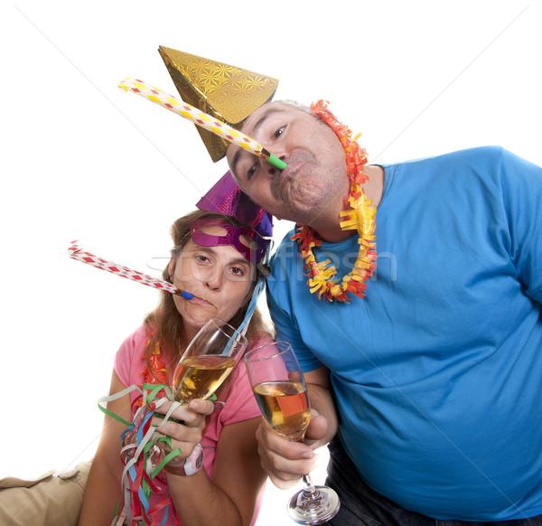 Bene party Coppia capodanno uomo Foto d'archivio © jarp17