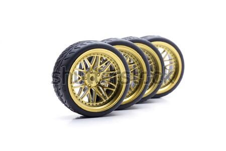 Aleación rueda diseno ruedas oro color Foto stock © jarp17
