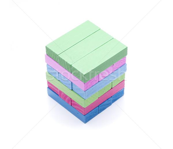Bloklar birkaç parçalar farklı renkler oyuncak Stok fotoğraf © jarp17