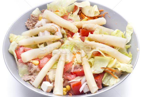 Sağlıklı salata karışık yağ stüdyo jambon Stok fotoğraf © jarp17