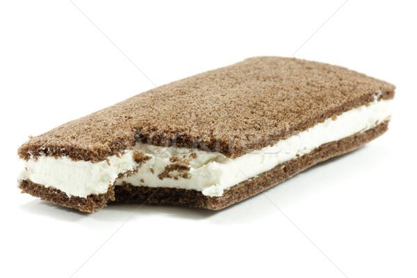 Sanduíche morder doce doce sobremesa creme Foto stock © jarp17