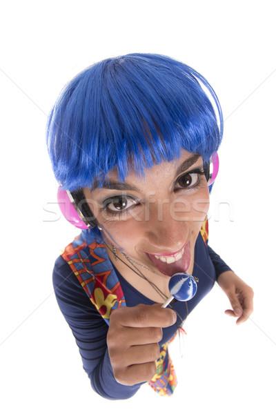 Hippie pirulito azul hippie menina colorido Foto stock © jarp17