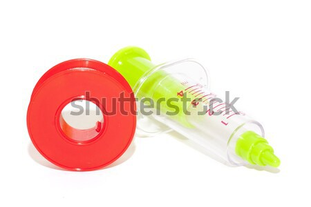 şırınga tıbbi eczane sağlık enjeksiyon yalıtılmış Stok fotoğraf © jarp17