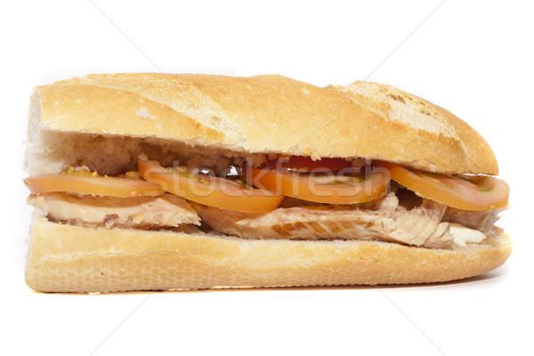 Uskumru sandviç domates mayonez balık Stok fotoğraf © jarp17