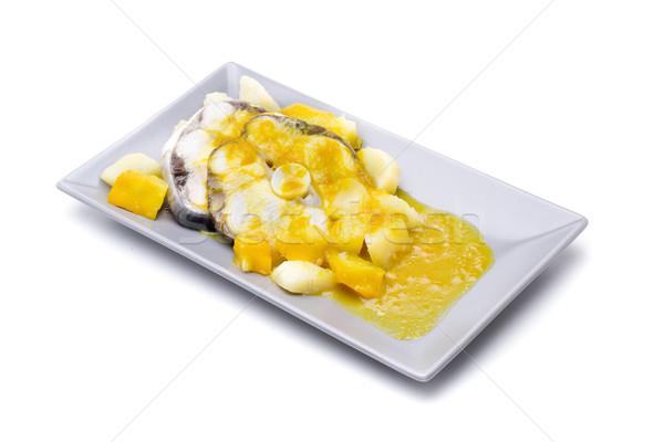 маринованный соус картофель желтый белый студию Сток-фото © jarp17
