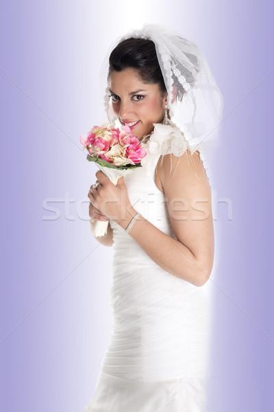 Stock photo: beautiful bride portrait