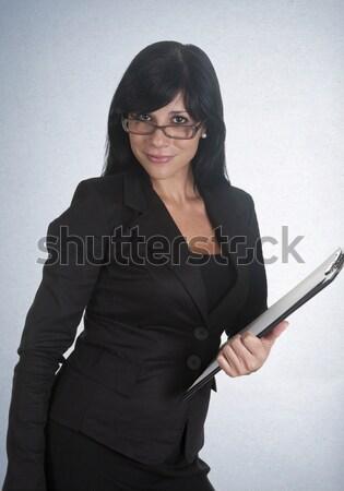 Főnök lány nő néz munkások üzlet Stock fotó © jarp17