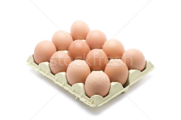 Düzine yumurta kutu çiftlik taze doğa Stok fotoğraf © jarp17