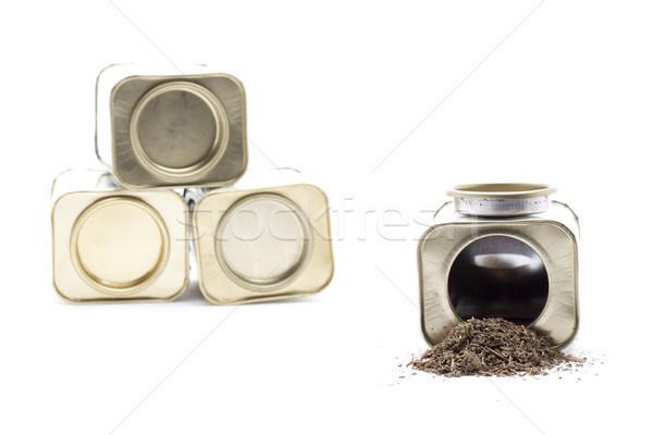 Fűszer doboz menta fűszer alapvető ételek Stock fotó © jarp17