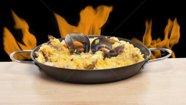 огня типичный свежие испанский продовольствие морем Сток-фото © jarp17