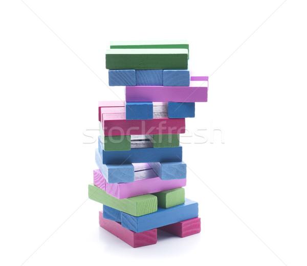 Kule bloklar birkaç parçalar farklı renkler Stok fotoğraf © jarp17