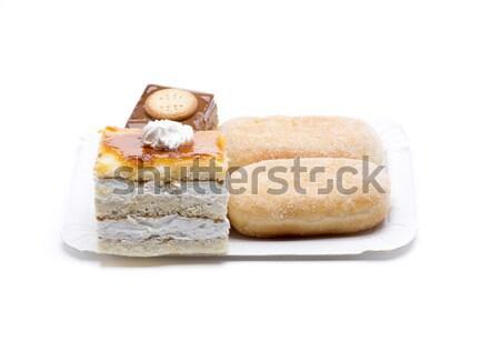 четыре торт Sweet торты шоколадом Сток-фото © jarp17