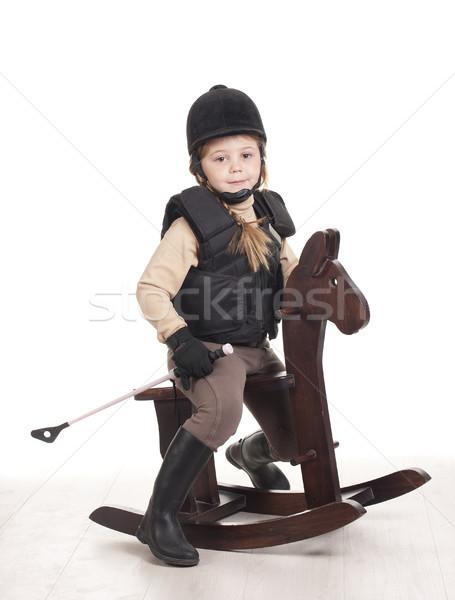 ride a horse Stock photo © jarp17