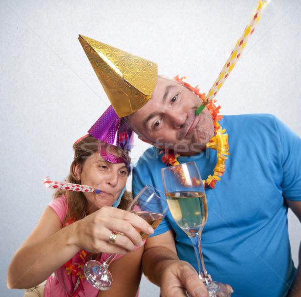 Parti 2012 çift yılbaşı adam Stok fotoğraf © jarp17