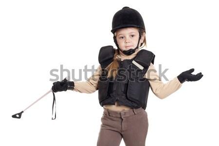 Soygun kadın seksi kadın güvenlik tabanca maske Stok fotoğraf © jarp17