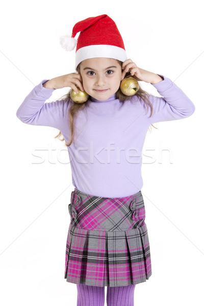 çocuk küçük kız Noel model Stok fotoğraf © jarp17