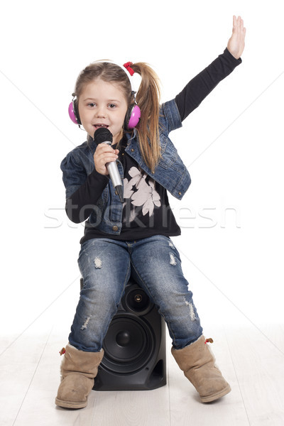 ラップをやる人 子供 少女 リスニング 音楽 ラップ ストックフォト © jarp17