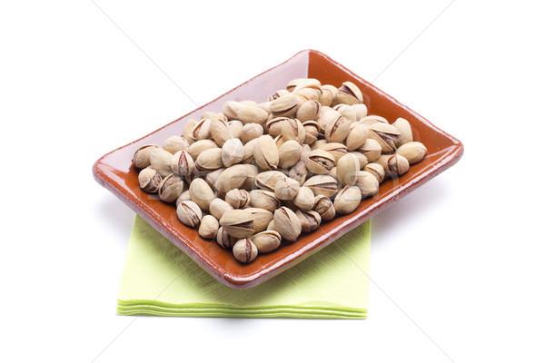 Pisztácia falatozó egészséges dió sok vitaminok Stock fotó © jarp17