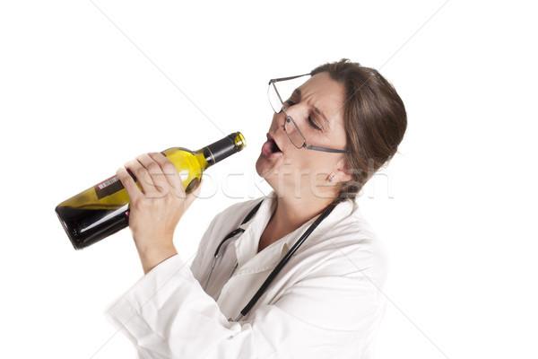 Dr sarhoş doktor içme gülümseme tıbbi Stok fotoğraf © jarp17