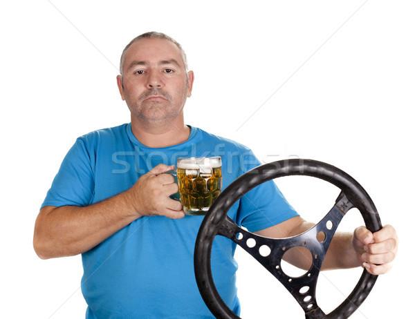 алкоголя драйвера вождения питьевой пива человека Сток-фото © jarp17