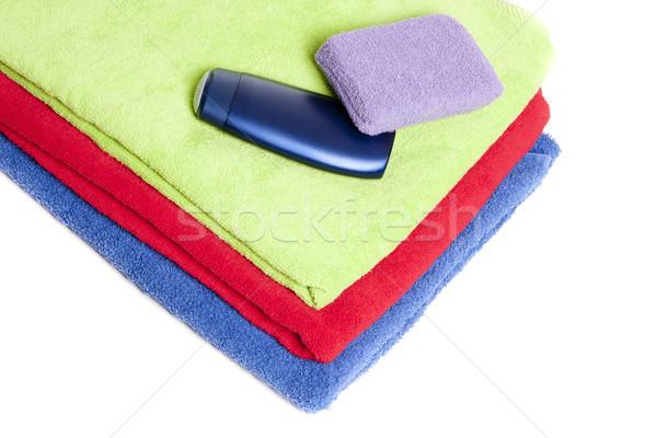 Handdoeken persoonlijke hygiëne gebruikt douche schoonmaken schone Stockfoto © jarp17
