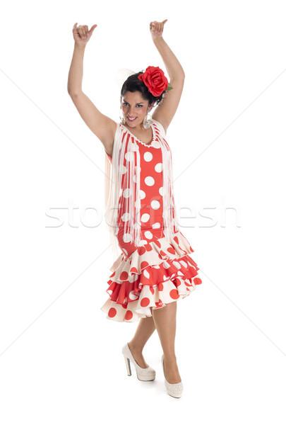 İspanyolca dansçı flamenko tipik kostüm güney Stok fotoğraf © jarp17
