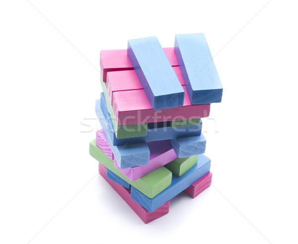 Kockák felfelé néhány darabok különböző színek Stock fotó © jarp17