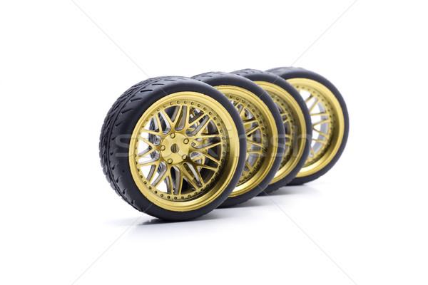 Radyo kontrol tekerlek dizayn tekerlekler altın Stok fotoğraf © jarp17