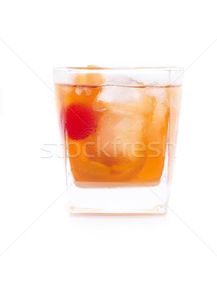 Eski moda kokteyl cam turuncu limon Stok fotoğraf © jarp17