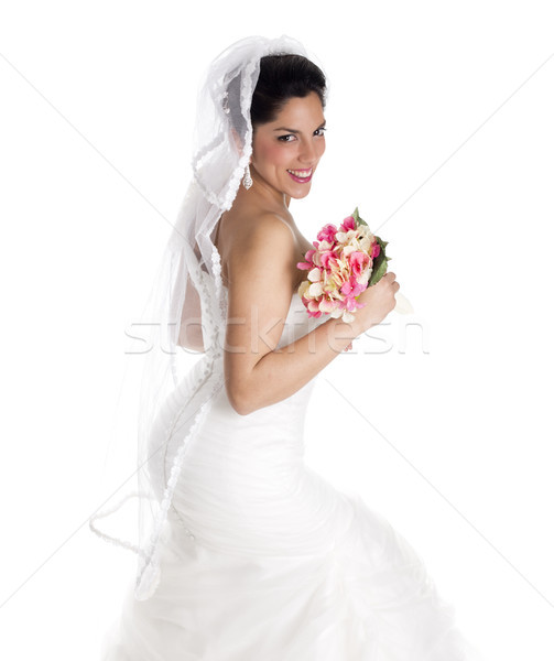 Stock photo: happy bride