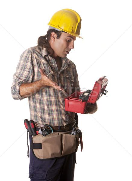 Operatore cassetta degli attrezzi pronto business costruzione lavoro Foto d'archivio © jarp17