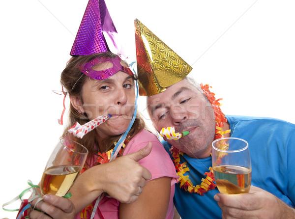 Festa bêbado casal ano novo homem Foto stock © jarp17