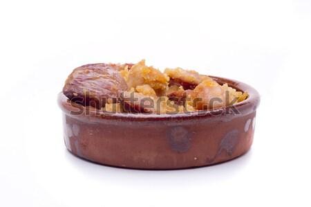 Geleneksel kırıntıları tipik yemek güney İspanya Stok fotoğraf © jarp17