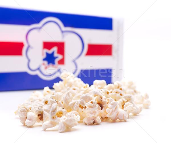 Popcorn finestra pronto film film candy Foto d'archivio © jarp17
