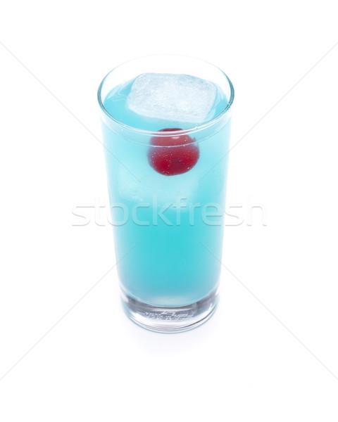 Azul oceano diversão coquetel cereja dentro Foto stock © jarp17