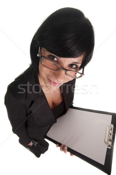 большой женщину Boss смотрят рабочие бизнеса Сток-фото © jarp17
