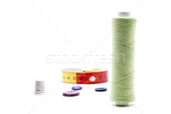 Kézimunka különböző varr kellékek használt fehér Stock fotó © jarp17