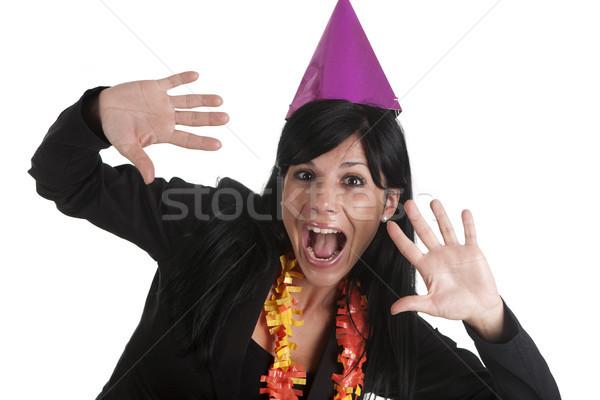 Mutlu kız yılbaşı mutlu disko içmek Stok fotoğraf © jarp17