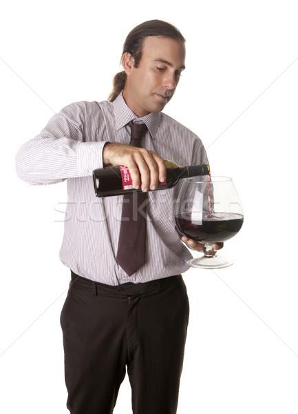 вино большой Кубок сомелье дегустация Сток-фото © jarp17