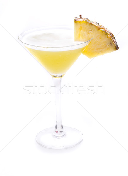 Martini ananas bir ünlü kokteyller dünya Stok fotoğraf © jarp17