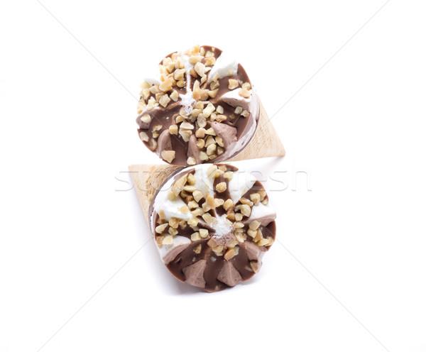 Buz dondurma çikolata parçalar beyaz Stok fotoğraf © jarp17