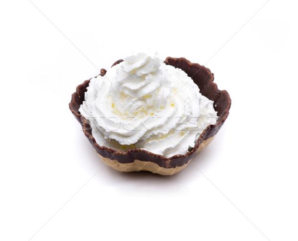Chantilly creme morangos chocolate biscoito diversão Foto stock © jarp17