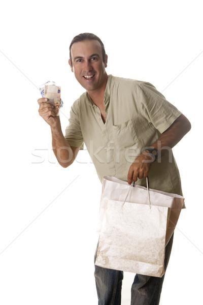 молодым человеком несколько мешки достаточно деньги Сток-фото © jarp17