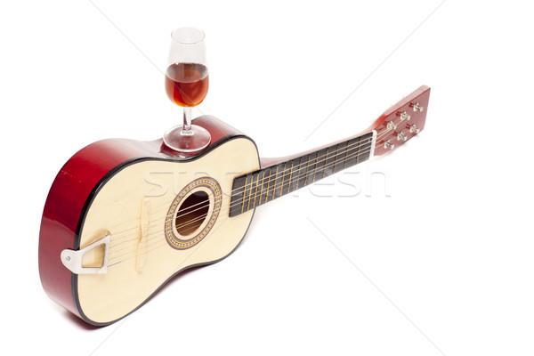 Gitár bor spanyol üveg kettő tipikus Stock fotó © jarp17