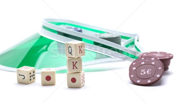 şapka euro oynamak oyun kumarhane tablo Stok fotoğraf © jarp17