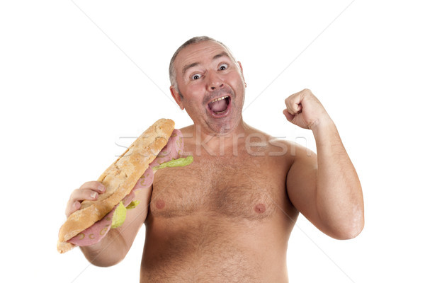 happy with his sandwich Stock photo © jarp17